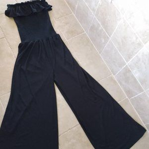 Casual Black Jump Suit